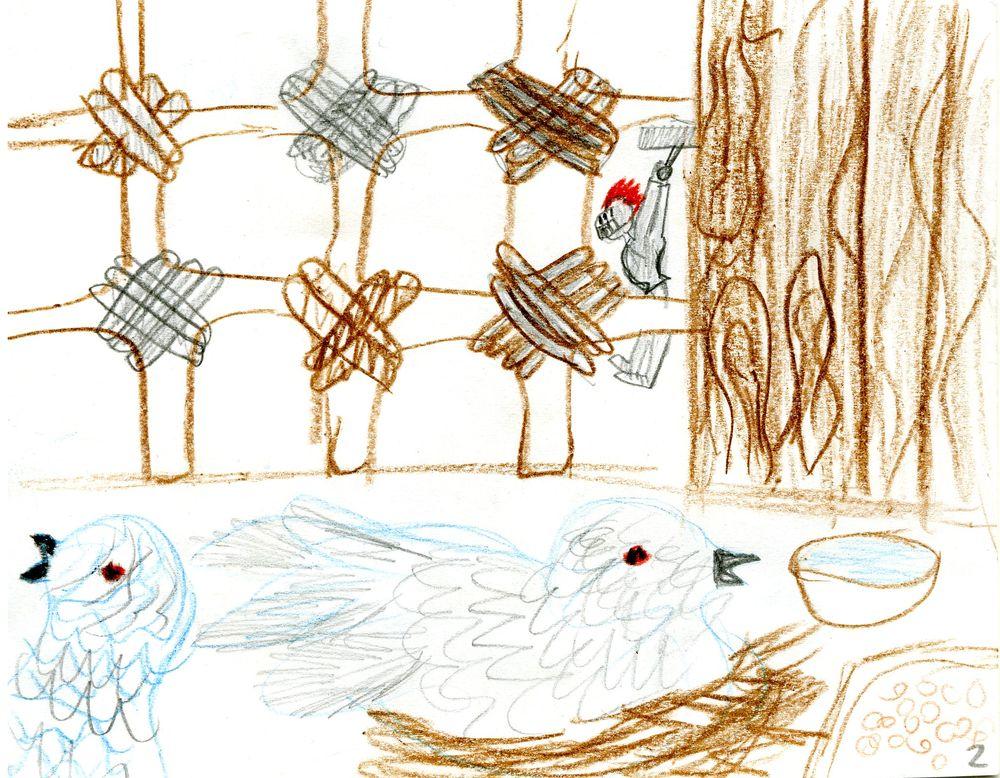 Маленький рыцарь освобождает пленников